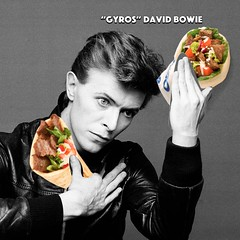 David Bowie: We Could Eat Gyros (Chris Devers) Tags: pun joke sandwich gyros gyro bowie david davidbowie