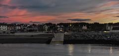 Greystones Harbour (Explore 17/09/2016) (Jenny dot com) Tags: sunset greystones harbour seaside lights nightphotography reflections ireland