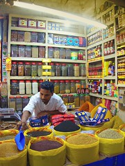 Shopkeeper (karla.hovde) Tags: bangladesh asia travel dhaka city urban shop shopkeeper food repetition pattern market bazar