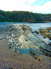 Rockpools I (elphweb) Tags: falsehdr fhdr seaside sea ocean water australia rocky rocks outdoor rockpools