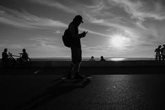 Cruising on the boardwalk (mrNiko) Tags: skate boardwalk sea ocean helsingborg sweden skne