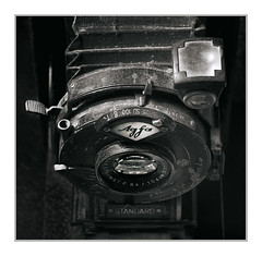 Old Agfa Camera, Pahrump, NV (Vincent Galassi) Tags: oldagfacamera pahrump nv agfa camera old blackandwhite