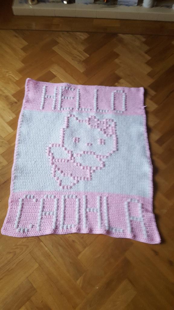 a733b3b0d Kitty blanket for Cadhla (dochol) Tags: kitty hellokitty cat blanket  babyblanket manta afghan