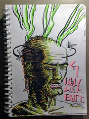 Ugly as a butt (Marcos D. Torres) Tags: illustration drawing draw illustrator watercolor india ink character design designer eyeball eye sketchbook sketches sketch black white paper pen pencil mechanic block panda bulbasaur pokemon diver woman portrait true detective ray velcoro hbo series uncle grandma realistic realismo head stink skull marcos torres comic book