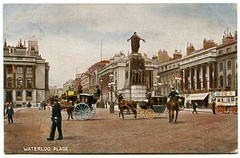 Waterloo Place London postcard (The Wright Archive) Tags: london waterloo place with war memorial vintage postcard colourised 1905 history england uk horses carriages policeman police edwardian despatch orderly wright archive