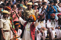 Moustache Champ (Thanwan Singh) Tags: pushkarmela moustache misai india rajasthan thanwansingh blackjuice7 laugh competition winner indian hindi fair camels cattle police crowd event ceremony travel travelling photography