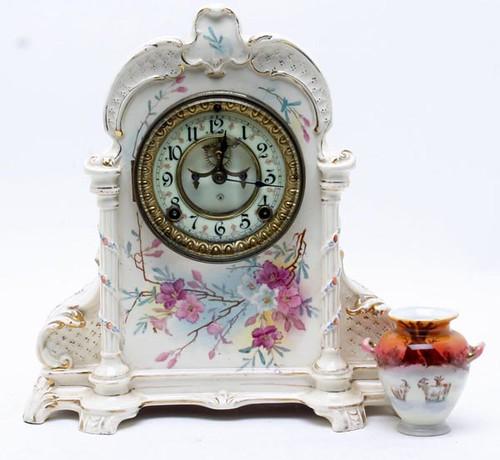 Royal Bonn Large China Mantle Clock ($224.00)