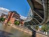The Valentine Bridge, Bristol, UK (Wizard CG) Tags: valentines bridge bristol temple quay docks valentine footbridge redevelopment olympus epl7 ngc micro four thirds 43 m43 mzuiko digital ed world trekker 918mm
