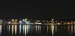 Italy by night: Anzio - Reflections of a late summer night (Bebo_cik) Tags: lights dark boats lightandshadows sea nightphotography reflection harbour night