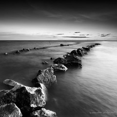 follow the rocks (sirman88) Tags: light sunset panorama seascape motion interestingness ray dusk geometry rocky glorious malaysia slowshutter pointing f8 remis traveldestinations colorimage buildingexterior d7000 tokina1116 sirman photographyoutdoors azmanrahman sirman88