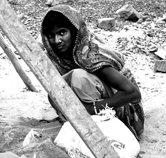 Hope (Open Circle) Tags: urban bw india hope construction constructionworker urbanindia indianstreetphotography