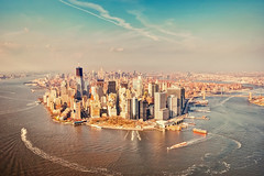 Manhattan from Above (ill-padrino www.matthiashaker.com) Tags: world from above new york city nyc bridge ny ferry brooklyn river boats island manhattan district center east helicopter hudson trade financial heli staten