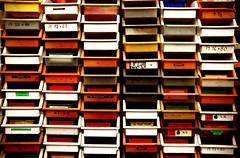 Teilchen-Ordnungsanlage (dotmatchbox) Tags: klein dinge bunt farben ordnung teile fcher teilchen schubladen hsteilchen
