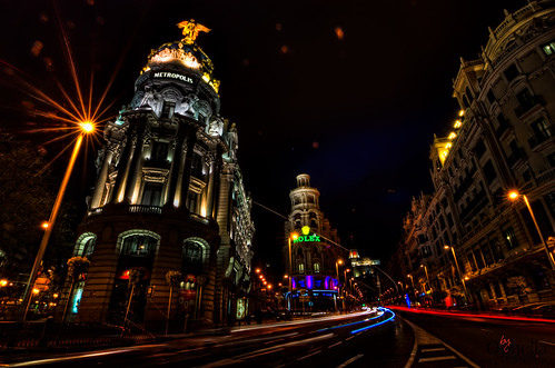 Madrid by nights with all the flare