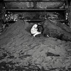 Out of the Ashes (sadandbeautiful (Sarah)) Tags: portrait bw woman selfportrait abandoned me female self pennsylvania dirt coal coalbreaker