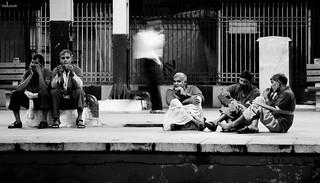 212/365. Just Chillin' - Porters at New Delhi ...