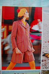 Fashioned stripes (<Vicky's Flicks>) Tags: fashion vintage 60s retro 1967 1960s magazines sixties seventeen