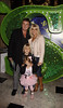 Christie Goddard and Shane Richie with their children Mackenzie and Lolita 'Shrek The Musical' first anniversary performance held at Theatre Royal - Inside London, England