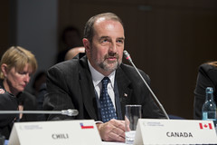 Denis Lebel attends the session