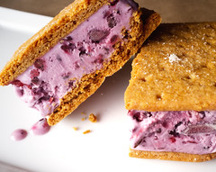 Blackberry Ice Cream Sandwiches [Explore] (ralph and jenny) Tags: food dessert restaurant birmingham blackberry alabama desserts icecream mountainbrook icecreamsandwich grahamcracker x100 dyronslowcountry crestlinevillage finepixx100