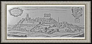 Nottingham - A Print of 1676 origin .