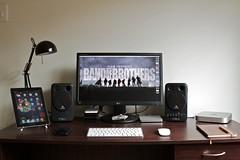 Unpacked (-spam-) Tags: apple lamp office mac mine phone tech desk diary australia mini lg workspace workstation behringer ipad