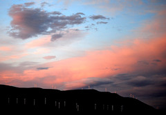 Sunset Clouds over Maryhill (Sotosoroto) Tags: sunset clouds oregon columbiariver biggs
