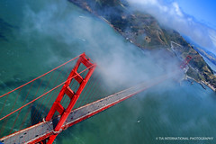 Golden Gate Wonder (TIA International Photography) Tags: san francisco golden gate bridge landmark emblem bay marin headlands county aerial view vista suspension span pontoon cloud cloudy pacific ocean border james bond kill california west coast fort baker highway 101 route saint francis city cityscape urban natural landscape travel 75th anniversary cross traverse crossing sausalito spring springtime may tosin arasi tiascapes tia tiainternationalphotography car transportation pedestrian commute traveler cyclist cycler vehicle bike bicycle earth sky sea water