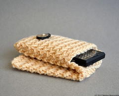 Cell Phone Case in Cream (natalya1905) Tags: design knitting case smartphone accessories gadget sleeve android iphone hornbutton