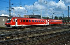 611 002  Ulm Hbf  22.07.02 (w. + h. brutzer) Tags: analog train germany deutschland nikon eisenbahn railway zug trains db ulm 611 eisenbahnen triebwagen triebzug triebzüge webru