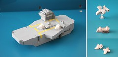 Carrier + Aircraft (Multihawk) Tags: scale airplane lego aircraft military navy jet helicopter future hornet chinook nano naval carrier osprey warfare microscale