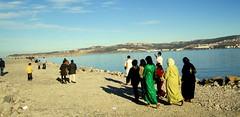 Crowd on Eid Vacation (SyrianSindibad) Tags: ocean beach locals walk board atlantic morocco maroc share tangier tanger gedi cornish المغرب طنجة