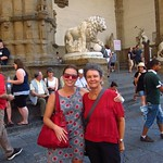 "Claudia and Heide at Loggia dei Lanzi <a style=""margin-left:10px; font-size:0.8em;"" href=""http://www.flickr.com/photos/14315427@N00/7512026988/"" target=""_blank"">@flickr</a>"