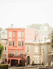 Quiet Afternoon (Young Swan Designs) Tags: sf sanfrancisco california travel urban architecture vintage cityscape victorian hills thingstodo victorianarchitecture travelphotography pinkbuilding triptosf sfgirlbybay