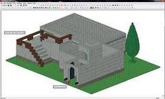 Study_Castle_001_MB003 (Voodoo Hand) Tags: building tree castle wall fence project floor panel lego main basement wip structure step base lumber