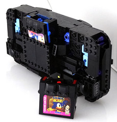 Game Gear - rear (Baron Julius von Brunk) Tags: nyc lego sonic transformers legos sega hedgehog genesis knuckles moc gamegear brothersbrick baronvonbrunk juliusvonbrunk