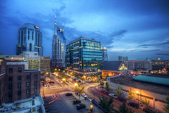 Nashville (Malcolm MacGregor) Tags: city blue skyline night nashville dusk tennessee unique hour thechallengefactory thepinnaclehof bestof2012 tphofweek158