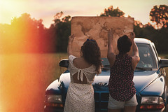 Road trip (Gabriella Corrado) Tags: road trip friends sun texture film car truck fun 50mm back clothing map sister lightleak cannon editorial traveling forever21 gabriellacorrado