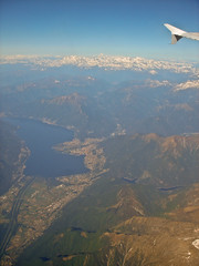 Milan-Frankfurt - across Alps_008 - Lake Maggiore & Lucarno (mgrenner57) Tags: italy snow mountains alps europe aerialview 2012