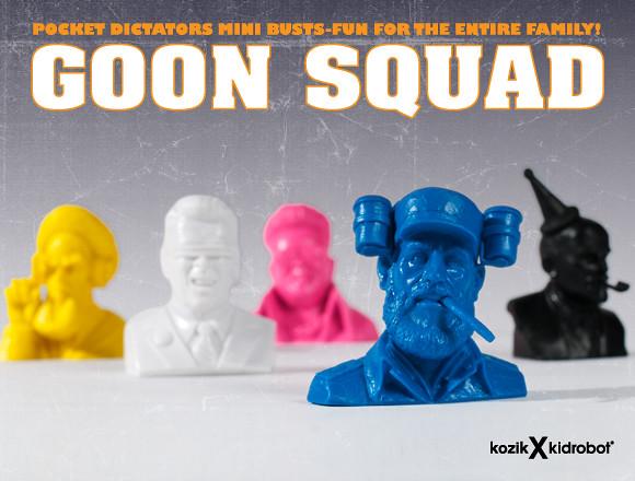 "Kozik × Kidrobot - 惡搞歷史人物新作!""Goon Squad"" 迷你胸像"