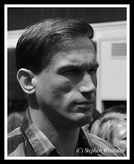 Dr Christian Jessen (Stephen Whittaker) Tags: street shadow bw white black shirt liverpool skinny nikon dr candid profile super size doctor stare churchstreet soulful bodies supersize gp embarrassing checked superskinny d5100 christianjessen whitto27 filmimng