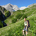 Wiesenweg oberhalb des Fellbachs