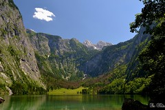 At Lake Obersee in June (echumachenco) Tags: summer germany bayern deutschland bavaria berchtesgaden sommer mountainlake bergsee soe obersee nationalparkberchtesgaden hagengebirge fischunkelalm konigssee ringexcellence dblringexcellence nikond3100 teufelshorner