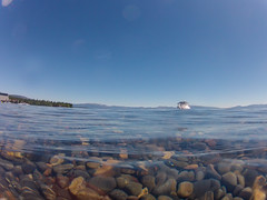 On the water, Lake Tahoe (TomFalconer) Tags: california summer lake west beach underwater tahoe clear pebble shore gopro