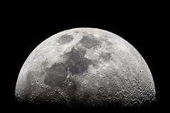 Moon Rising [Explored!] (emiliokuffer) Tags: moon 8 luna telescope dobsonian 1200mm skywatcher explored 203mm1200mm