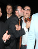 Alan Carr is kissed by a male fan as he leaves Jalouse Club after attending Mariah Carey's party. The obsessive fan followed Alan as he left the club to catch a taxi to Claridges hotel. London, England