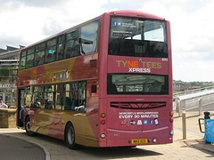 Go North East 6043 (NK12GCO) - 03-08-12 (11) (peter_b2008) Tags: buses volvo transport wright coaches x10 x9 gonortheast 6043 buspictures gonorthern b9tl goaheadgroup eclipsegemini2 nk12gco tyneteesxpress