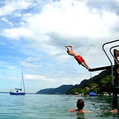 sommerzeit (michael pollak) Tags: attersee springen me moi backflip rckwrts fun wasser water see lake