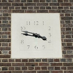3.47 in the courtyard (simonnash.gallery) Tags: london clock face numbers civic euston quaker
