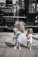 brecon - girls and steam train (grahamdale74) Tags: alyssia caitlin chel roy joan mum dad 2016 south wales